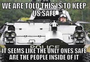 police protect self